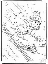 Zahlen Malen Nach Ski Malvorlagen Winter sketch template