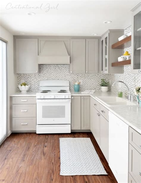 grey kitchen cabinets with white appliances 25 great ideas about laminate cabinet makeover on 8361