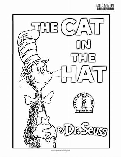 Hat Coloring Cat Pages Dr Seuss Fun