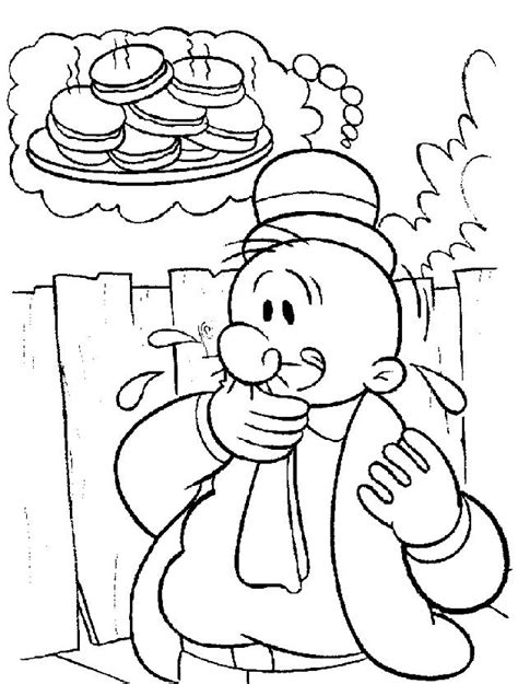 Popeye+Coloring+Pages | Coloring Page of Popeye the Sailor
