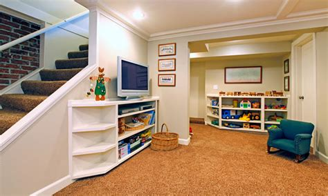 playroom  rec room construction  basement angi home