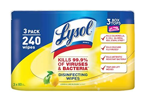 Lysol Disinfecting Wipes Value Pack, Lemon & Lime Blossom