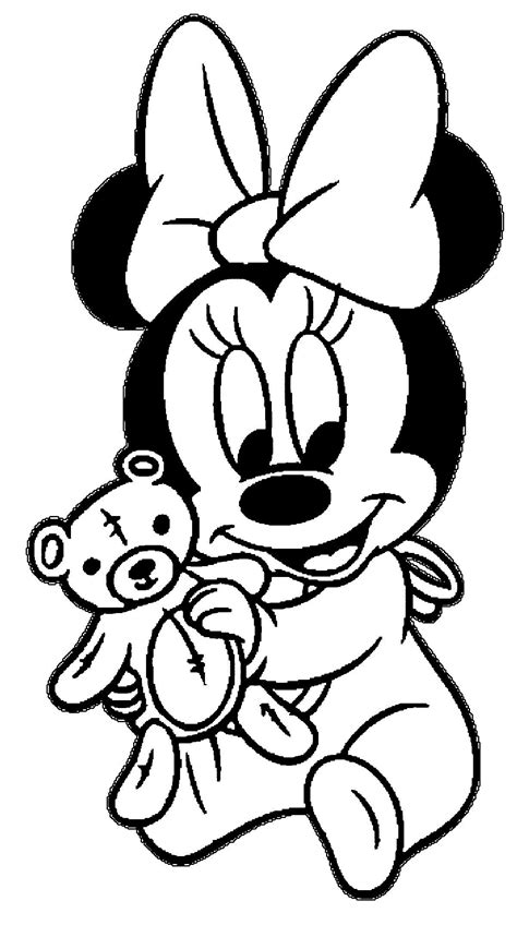 Kleurplaat Minnie Mouse Baby by Minnie Baby Coloring Pages 2 By Coloring Baby