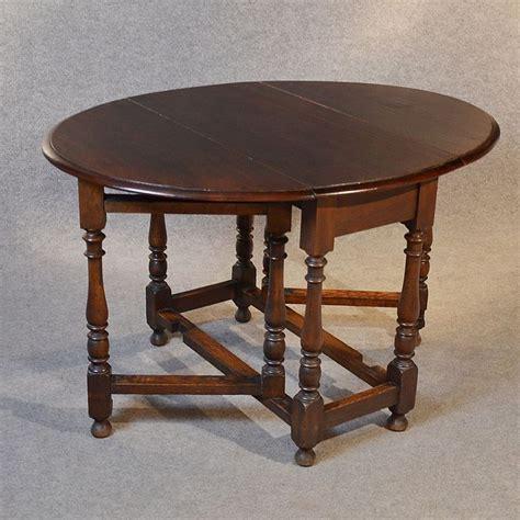 Antique Oak Oval Table Gate leg Drop Flap Victorian