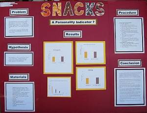 Science Fair Projects About Snacks As Personality