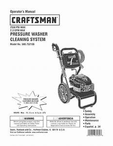 Craftsman Pressure Washer 580 75213 User Guide