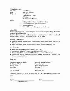 student cv example resume format samples With curriculum vitae examples for students