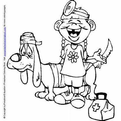 Coloring Pages Doctor Hospital Doctors Jobs Printable
