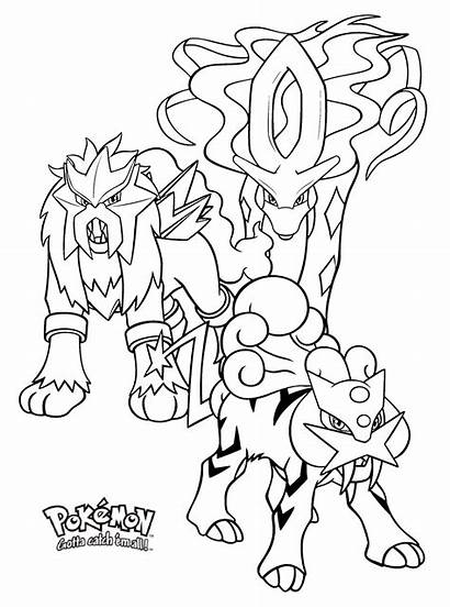 Pokemon Legendary Coloring Pages