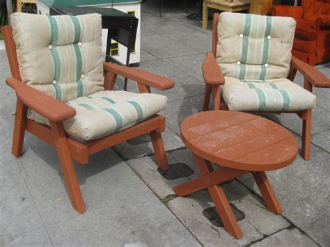 redwood patio furniture  woodworking