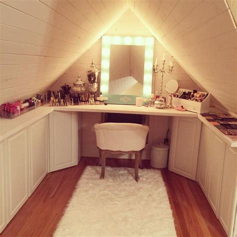 attic makeup room vanity makeup diy paneling