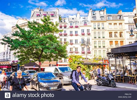 Beautiful Street In Paris Typical Stock Photos And Beautiful