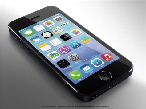 iphone 5s iphone 5s concept shows a home button with a ring light