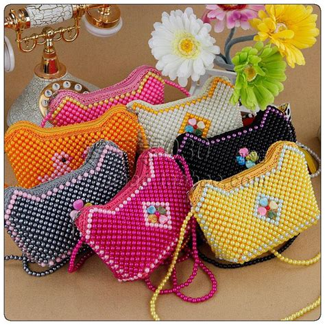 handmade beaded bags finished product womens handbag messenger bag personalized child coin