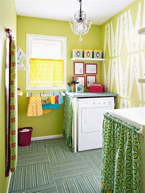 Bright Colored Laundry Room  Laundry Room Pinterest