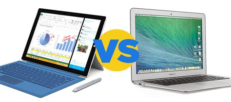 microsoft surface pro 3 vs apple macbook air 13 inch