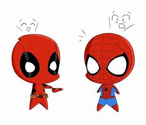 Gallery For > Deadpool Spiderman Chibi | webhed and frends ...