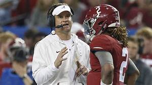 Lane Kiffin Will Not Coach Alabama In Title Game Against