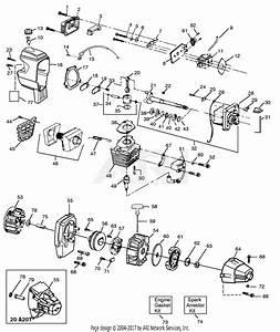 Poulan Xt50 Gas Trimmer Parts Diagram For Engine