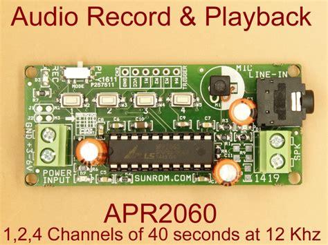 Audio Record Playback Apr Sunrom