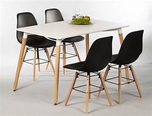 Esstisch Stühle Weiß : tischgruppe esstisch ilka wei 4 st hle ronald schwarz ~ Michelbontemps.com Haus und Dekorationen