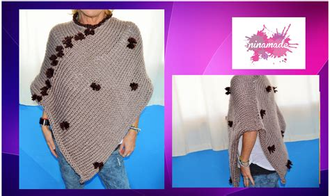 diy comment tricoter un poncho tr 232 s facile how to knit a poncho easy