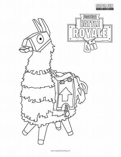 Fortnite Llama Coloring Fun Super Royale Battle