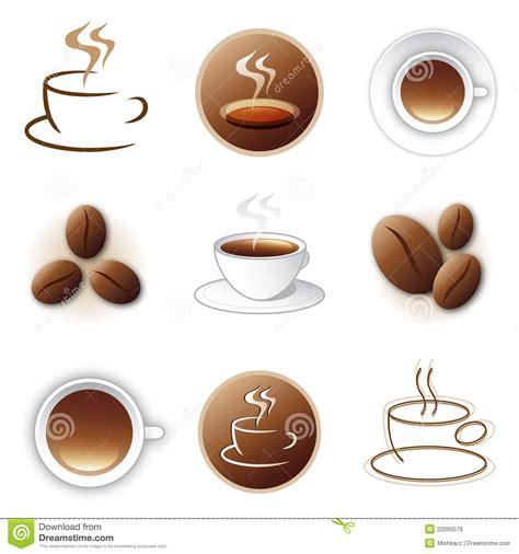 coffee icon  logo design collection royalty  stock
