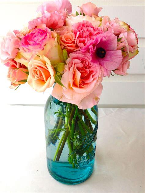 flowers in jars floral arrangement my sweet soiree