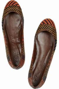 burberry prorsum woven leather and raffia ballet flats in