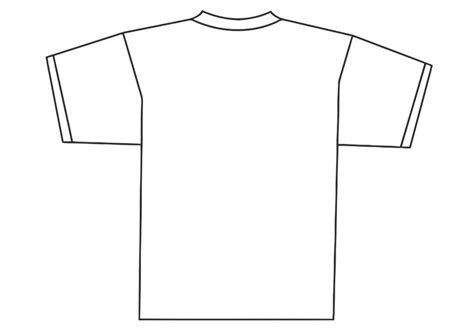 Kleurplaat Shirt by Kleurplaat Achterkant T Shirt Afb 19340