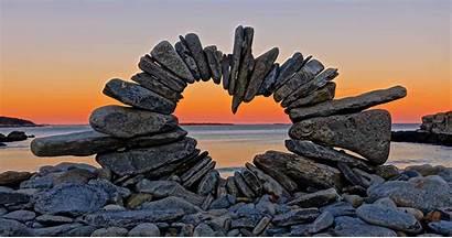 Natural David Allen Stones Artist Installations Leaves
