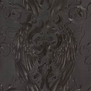 harald gloockler tapeten schwarz engelsflugel krone 52578 With balkon teppich mit strass tapete