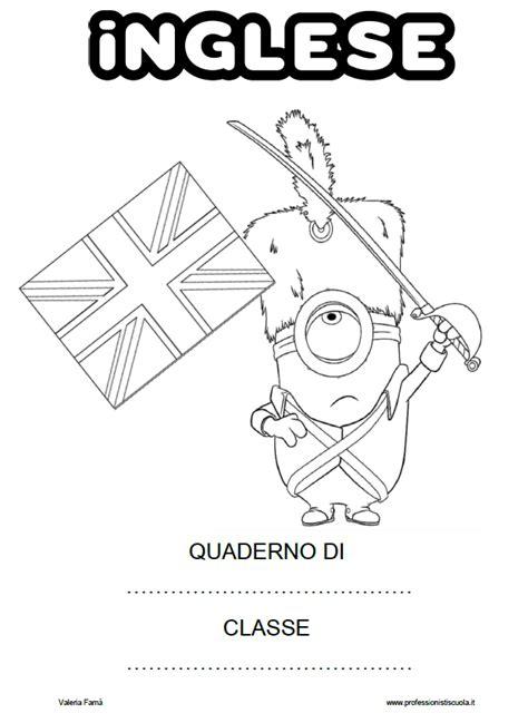 disegni per cover copertine per quaderni di inglese da stare e colorare