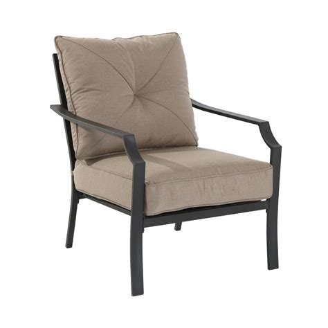 furniture allen roth stripe chili seat patio chair
