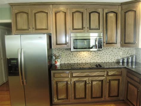 Pickled Oak Cabinets Glazed by Black Glaze Pickled Wood Glazed Cabinets