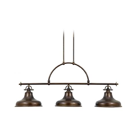 Bronze Factory Style Long Bar Ceiling Pendant Light For
