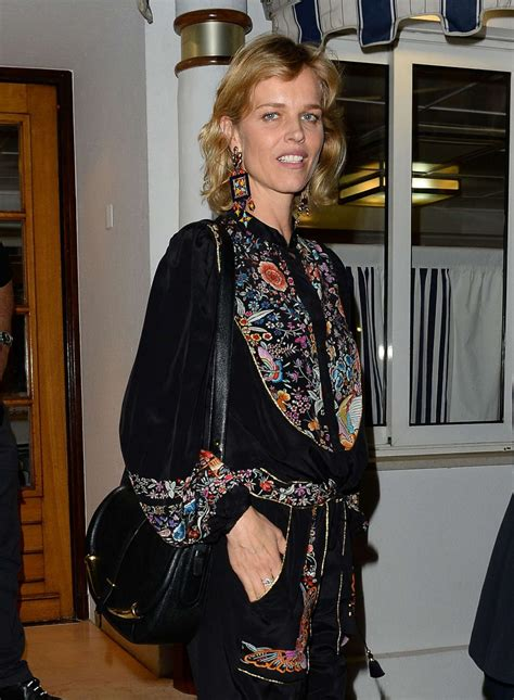 cannes cuisine herzigova out for dinner at tetou restaurant in cannes