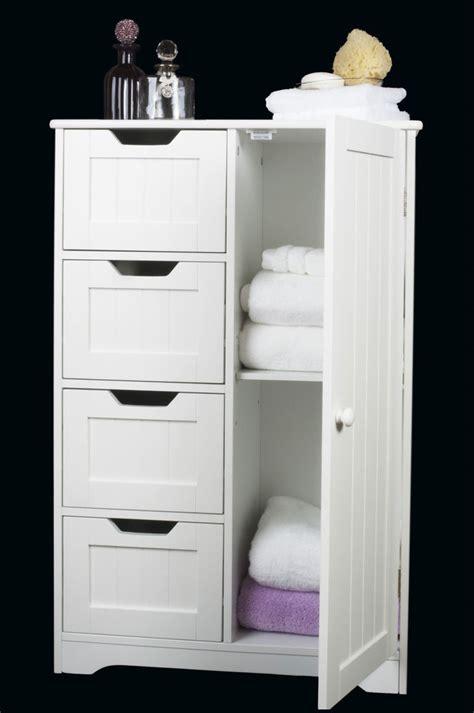 white wooden storage cabinet  drawers door bathroom