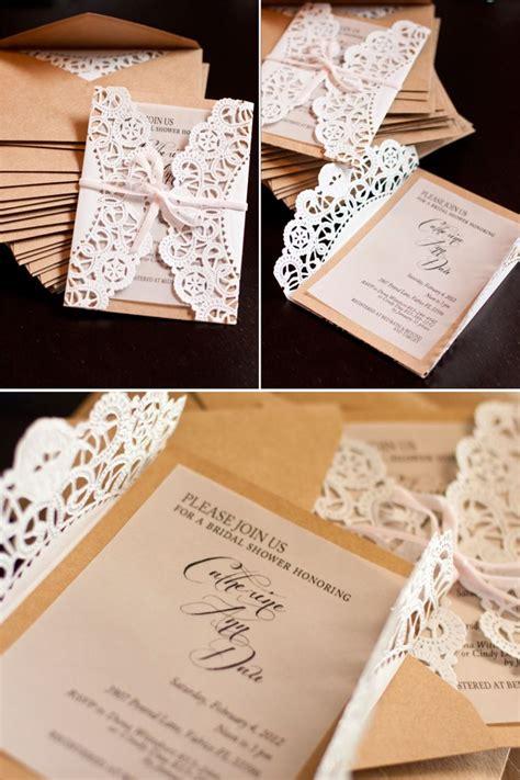 Lace Doily DIY Wedding Invitations Mrs Fancee