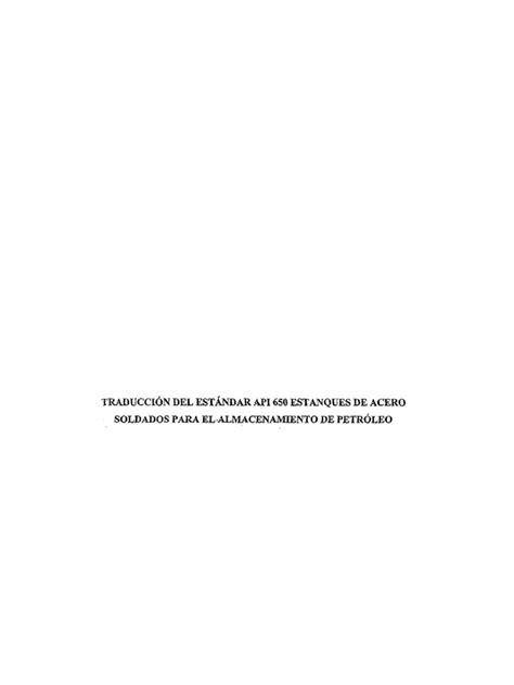 API 650 en español
