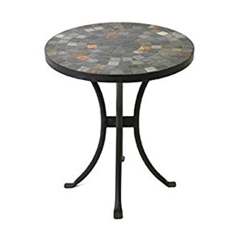 mosaic outdoor side table amazon com outdoor interiors llc 31625 mosaic side table