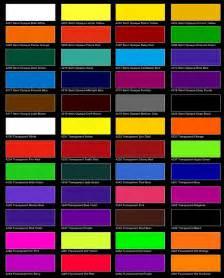Automotive Paint Color Chart