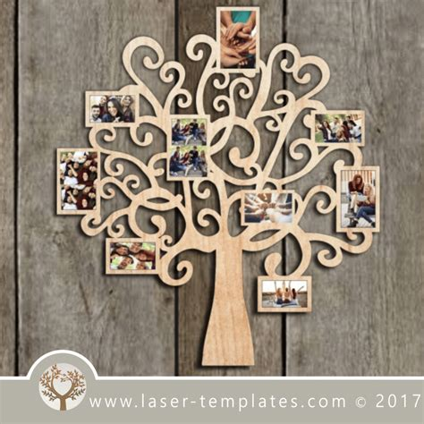 photo frame tree template  laser cut design store