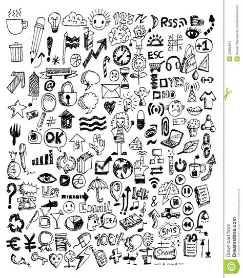 Harry Potter Computer Background Hand Doodle Business Doodles Stock Illustration Illustration Of Bussines Investment 33982694
