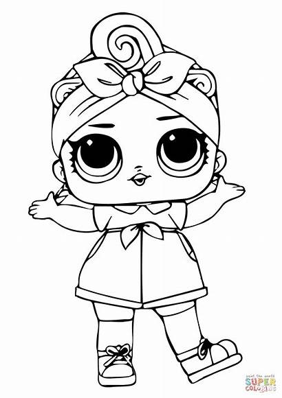 Lol Coloring Doll Printable Surprise Supercoloring Crafts