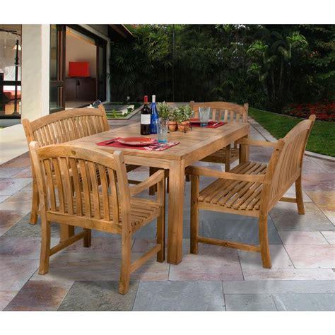 amazonia geneve 5 teak patio dining set sc geneve