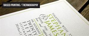 raised ink printing thermography wedding invitations and With wedding invitation printing process