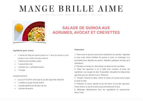 fiche recette cuisine salade de quinoa aux agrumes avocat et crevettes mange