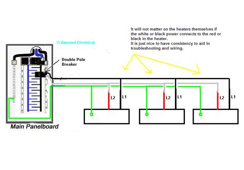 Wiring Multiple Baseboard Heaters Parallel With